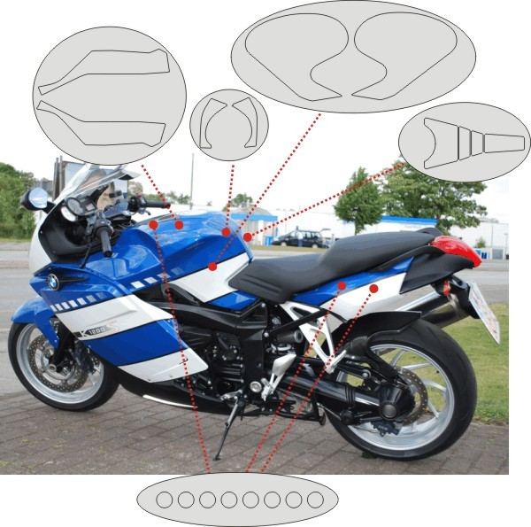 Cover set for the BMW K1200S and K1300S