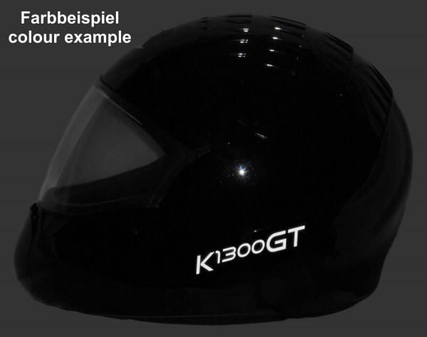 Helmaufkleber reflektierend im Stil K1300GT Typ 1