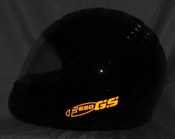 Helmaufkleber reflektierend im Stil F650GS Typ 3