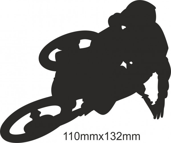 Motobike Moto Cross Freestyle sticker #13 different colours