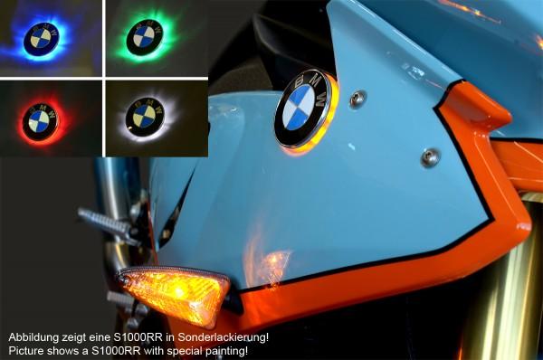 BMW S1000RR since 2019 two colour emblem indicator lights