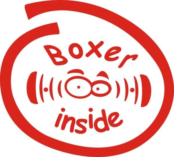 Boxer Inside Aufkleber Nr.2 in Wunschfarbe