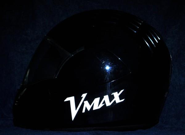 Helmaufkleber reflektierend im Stil V-MAx Typ 1
