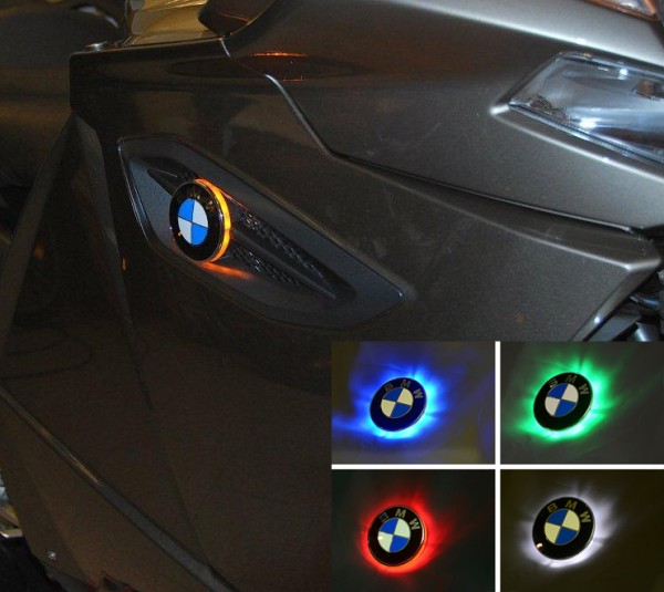 K1300GT two colour BMW roundel badge LED lights / Emblem lights