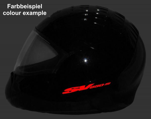 Reflective helmet sticker Suzuki SV650S style Typ 2