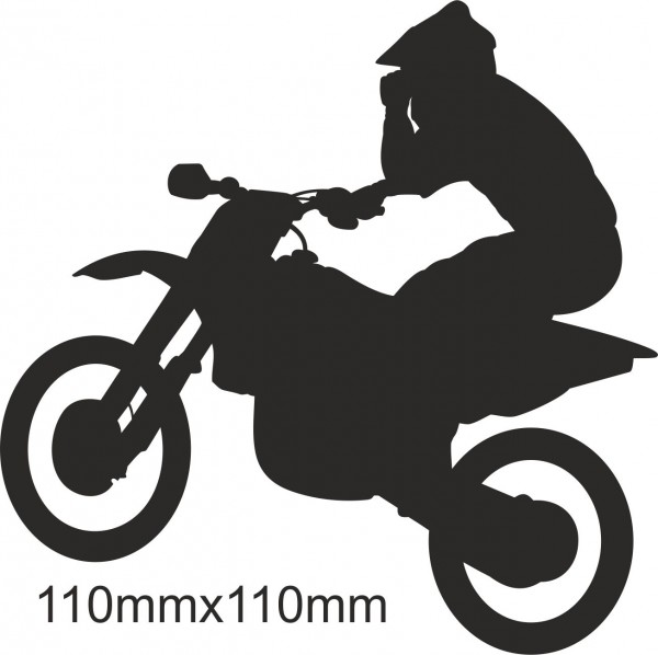 Motorrad Moto Cross Freestyle Aufkleber #14 in Wunschfarbe