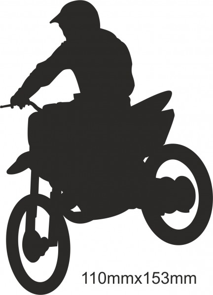 Motobike Moto Cross Freestyle sticker #01 different colours