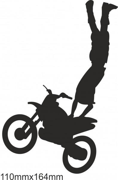 Motorrad Moto Cross Freestyle Aufkleber #06 in Wunschfarbe