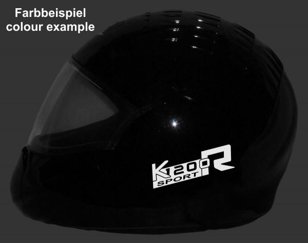 Helmaufkleber reflektierend im Stil K1200R Sport