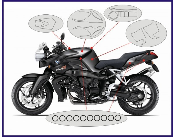 Cover set for the BMW K1200R and K1300R