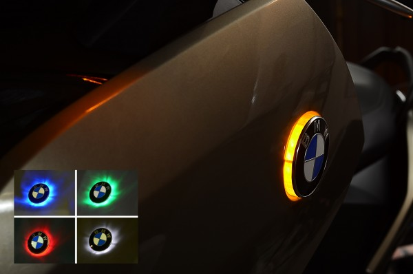 C650GT C600Sport two colour BMW roundel badge lights