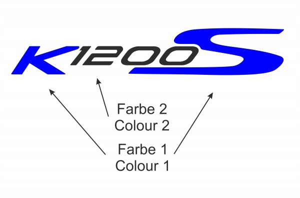 K1200S label set #1 big, two colours